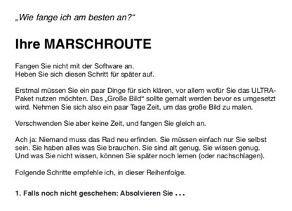Silent Subliminals: Anleitung Marschroute
