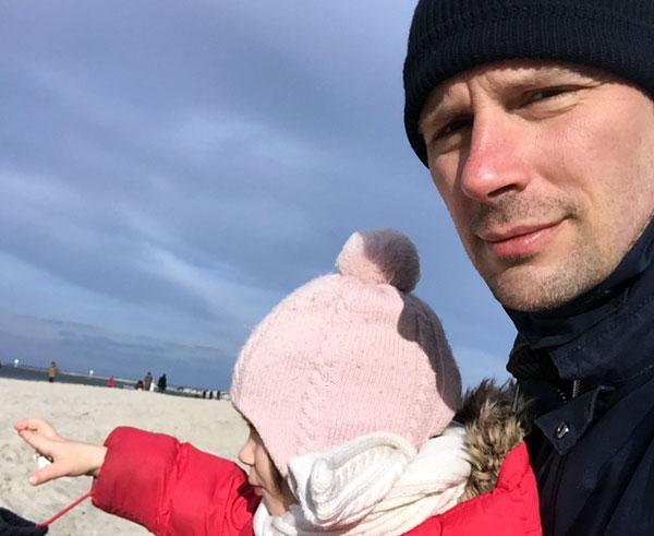 Mit meiner ersten Tochter, Ostern/Ostsee